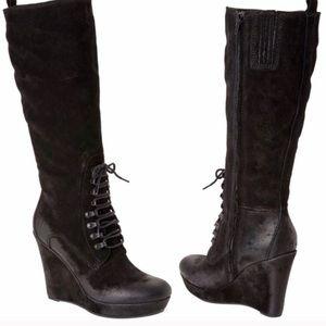 DIESEL Black Suede Dancing Queen Salsy Boots